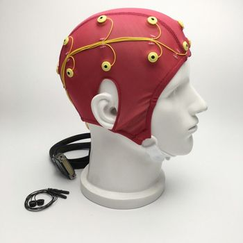 5.0 kohm low impedance 19 channel study and research use EEG cap