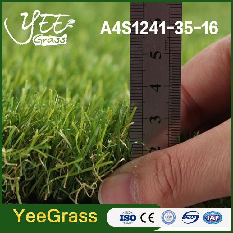 anti color fading PP and PE new style landscape synthetic grass turf India