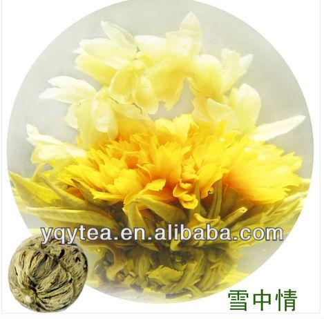 xuezhongqing flower handicraft green tea, Chinese tea blooming tea - 4uTea | 4uTea.com