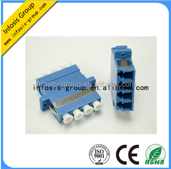 manufacturer cost price high performace duplex fiber optic duplex multimode LC upc quad fiber optic adapter