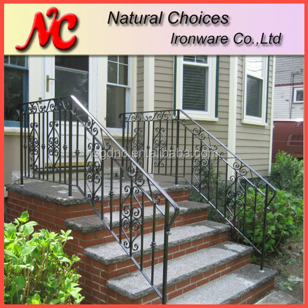Outdoor Metal Stairs Railing For Sale