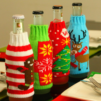 40 Latest Design Colorful Knitted Beer Glass Bottle Cover For Classy Decorate Beer Bottles For Christmas