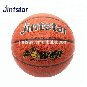 Wholesale Jintstar custom new design PU leather laminated basketball for training