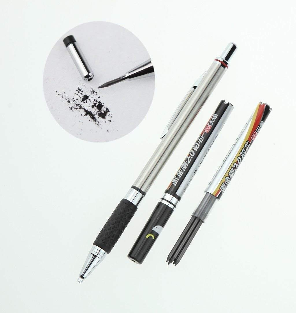 [Waller PAA] 2.0mm Lead Holder Mechanical Pencil + 2 Tubes Pencil Lead Refill Sketch Drawing
