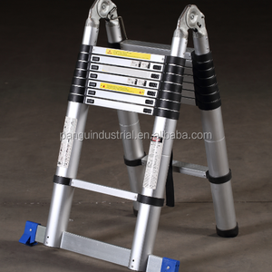 Aluminum telescopic multipurpose ladder with EN131 two side folding ladder A type