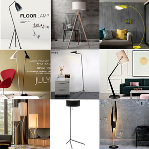 Black Shade Gun Floor Lamp For Home And Hotel Df1025