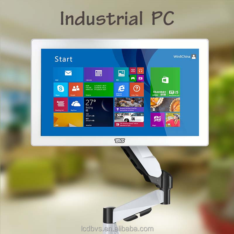 Fanless design IP65 18'' industrial touch panel PC for manufacturing, finance, traffic monitoring