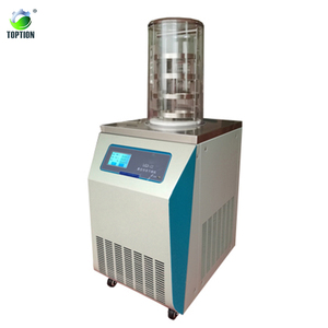 advanced LCD Touch screen display lypholizer lab mini Vacuum freeze drying machine for food fruit vegetable and pharmautical