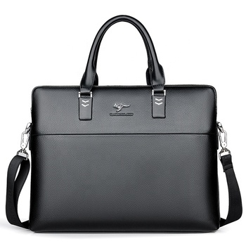 Fashion Business Casual Waterproof PU leather Handbag Crossbody Shoulder Laptop bag Men Briefcase