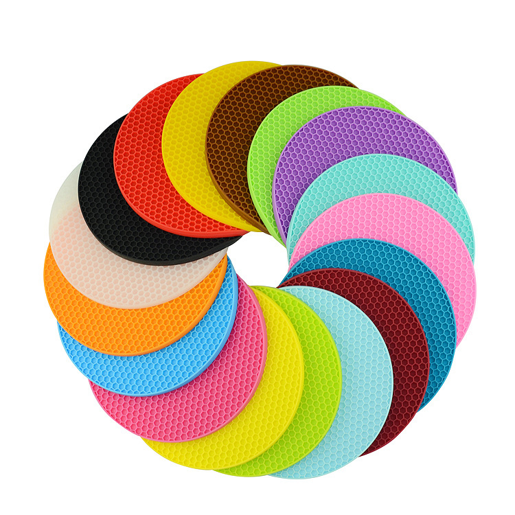 Household Round Non-slip Table Heat Resistant Pad Rose Silicone Cup Mat Pot Holder