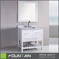 36 Inch Marble Top High Gloss White Euro Bathroom Vanity with Mirror