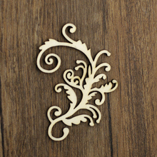 custom laser cutting Shapes Wood vine Wooden Embellishment Manual DIY Card Scrapbooking WF246