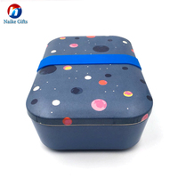 Eco-friendly food grade bamboo fiber lunch box bento box for school and office