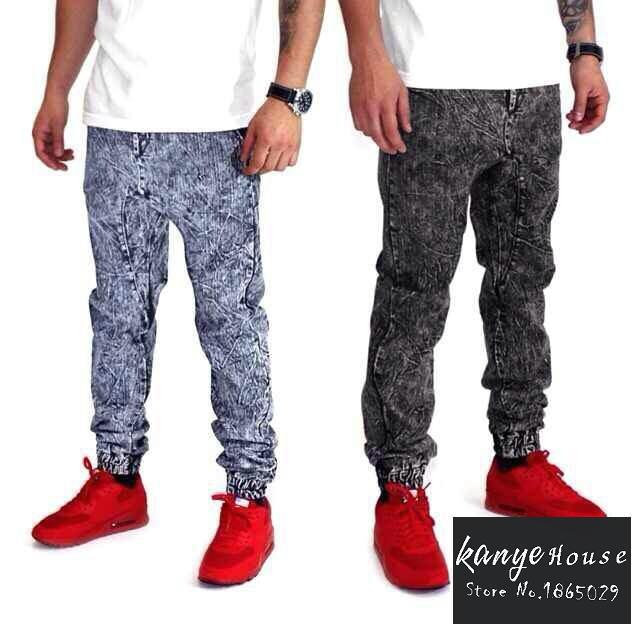 bbf7c263fb5b72 Get Quotations · mens 2015 hiphop fashion 30-40 plus size denim joggers  designer skinny urban star mens