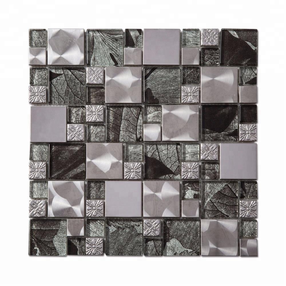 VUÔNG Tinh Thể Thủy Tinh Kim Loại Gạch Mosaic Với Giá Thấp Cho Nhà Bếp Backsplash
