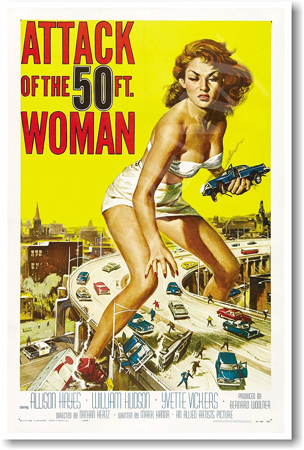 Attack of the 50 Ft. Woman - NEW Vintage Movie Poster
