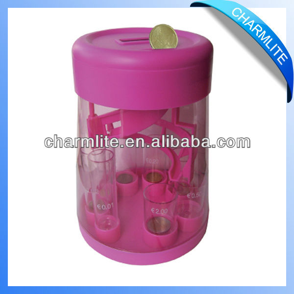 Pink Plastic Coin Sorter Bank
