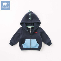 DBW8594 dave bella autumn infant toddler baby boys fashion hooded coat children hight quality clothes kids long sleeve clothing