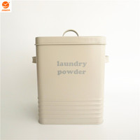 LU0034 Laundry Power Storage Box Laundry Tin with cream