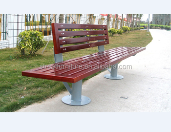Outdoor Long Wood Benches Public Park Bench Manufacturer