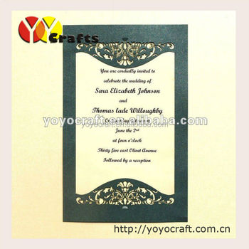 50pieces freshers party invitation cards laser cut luxurious wedding party invitation card various colors from