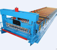 used color corrugated to make calamine hydraulic press roofing sheet roll forming machine