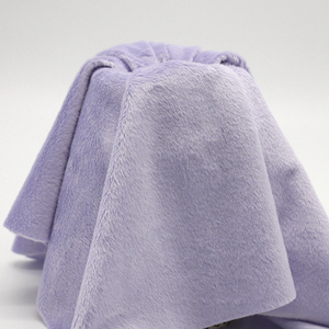 New coming super soft breathable lavender minky plain fabric