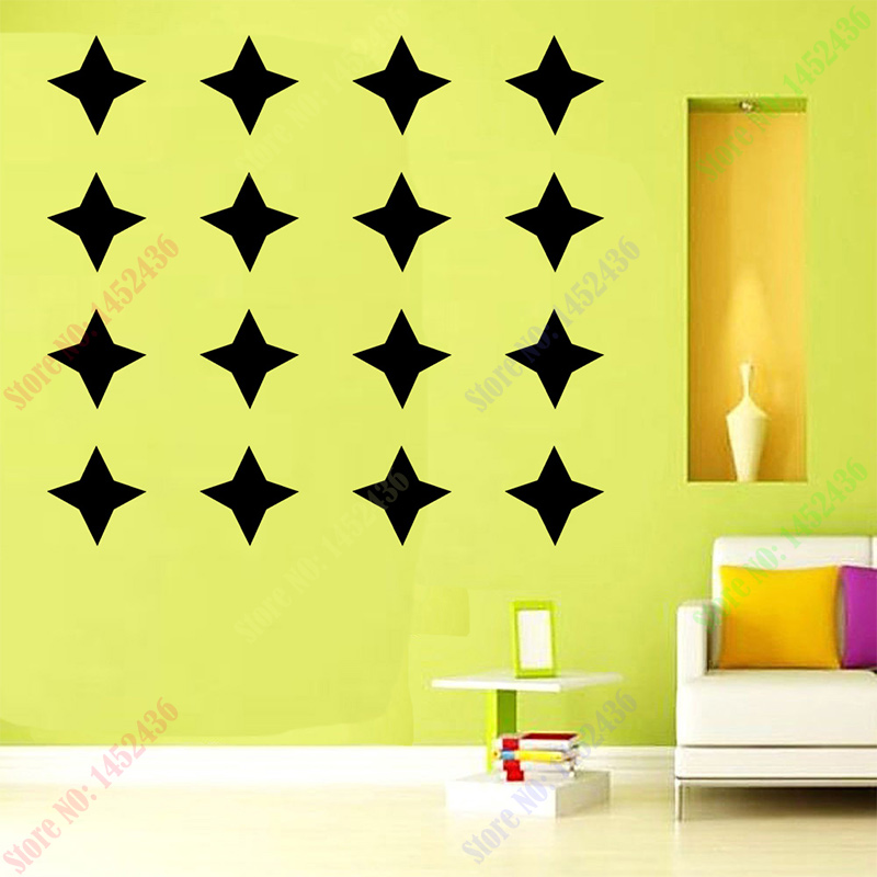 Free shipping star pattern cute home decoration Wall Sticker Removable Waterproof PVC No Pollution material for kids room decal