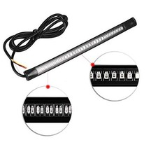 Motorcycle 48SMD led Light Strip Tail Brake Stop Turn Signal 20cm Flexible Rubber Led Light For Motorcycle