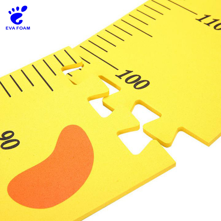 Eco-friendly soft EVA foam family DIY children's height measuring growth chart ruler