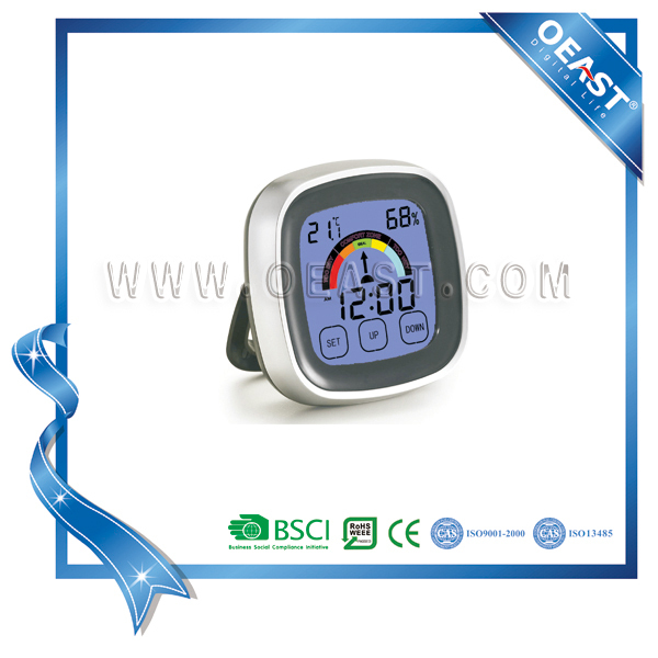 Big LCD Touch Screen Digital Table Clock With Humidity And Temperature
