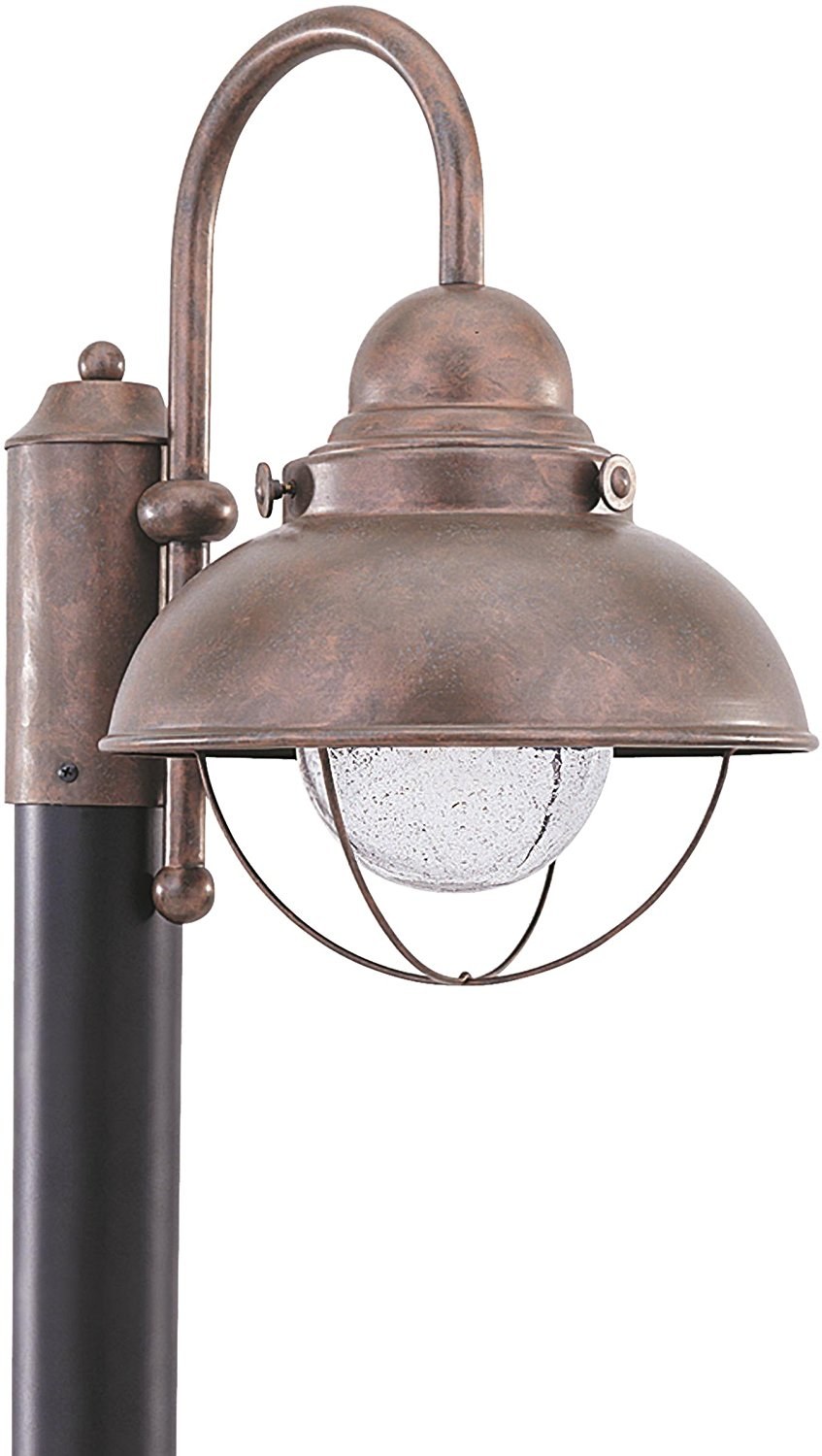 Sea Gull Lighting 826993S-44 Sebring Outdoor Post Mount, 1-Light LED 14 Watts, Weathered Copper