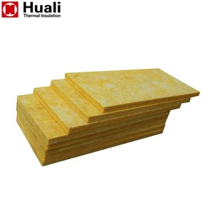Huali 30mm harga well qualified glass wool glasswool air-conditioning cutting board insulation