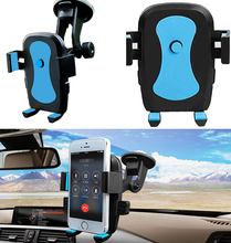 New arrival brand Robot shape blue Universal Suction cup bracket Phone Holder Car Air Vent For Mobile Phone 360 degree Rotation