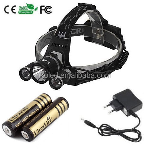 High Power Led Headlamp+ 2 X R2 Led Headlight +2x 18650 4000mah ...