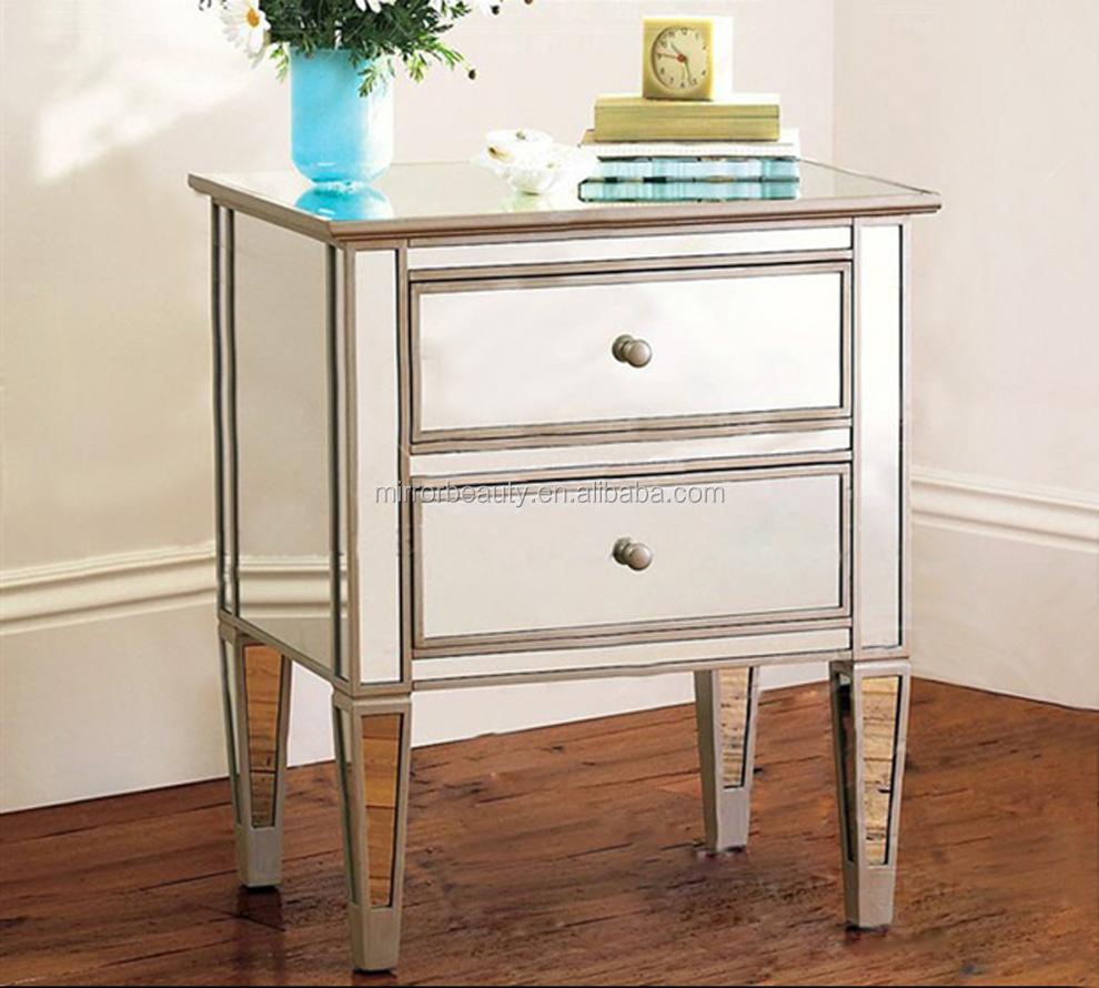 vente chaude miroir table de chevet avec cristal tirer la poign e tables de chevet id de produit. Black Bedroom Furniture Sets. Home Design Ideas