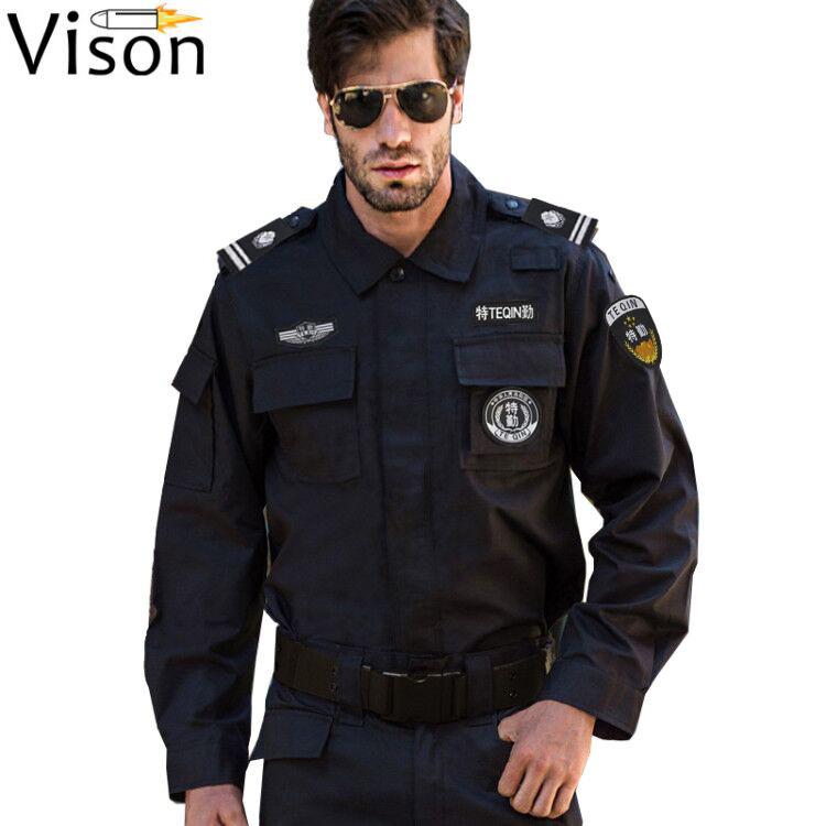 2019 ใหม่ตำรวจทหารเสบียงแจ็คเก็ตตำรวจและเครื่องแบบทหารเครื่องแบบตำรวจสหรัฐอเมริกา
