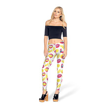 여성 Gym Leggings Sport 요가 Pants Red Lips Orange <span class=keywords><strong>슬라이스</strong></span> Print 요가 Pants