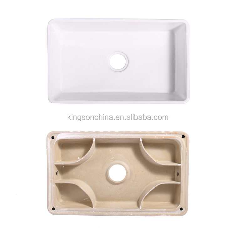 White Ceramic kitchen Sink Finish ceramic single bowl Apron Kitchen Sink Farmhouse Kitchen Sink