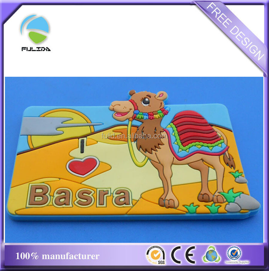 Iraq basra city 3D desert camel country tourist souvenir fridge magnet
