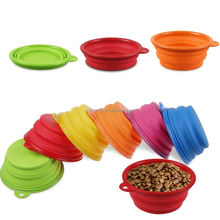 Cute Pet Foldable Travel Feeding Collapsible Dog Bowl