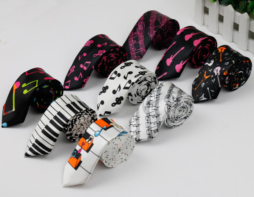 Новый стиль мужская мода галстуки Helloween фестиваль рождество галстук мягкую дизайнер характер галстук ноты фортепиано гитара