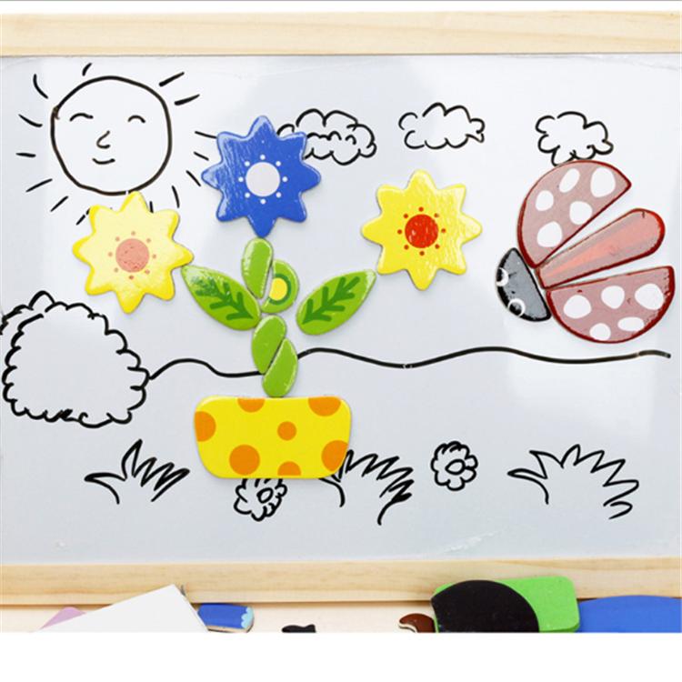 Fengqing бренд дети 3d головоломки высокое качество доска для рисования Магнитный пазл мозаика Лидер продаж деревянный пазл