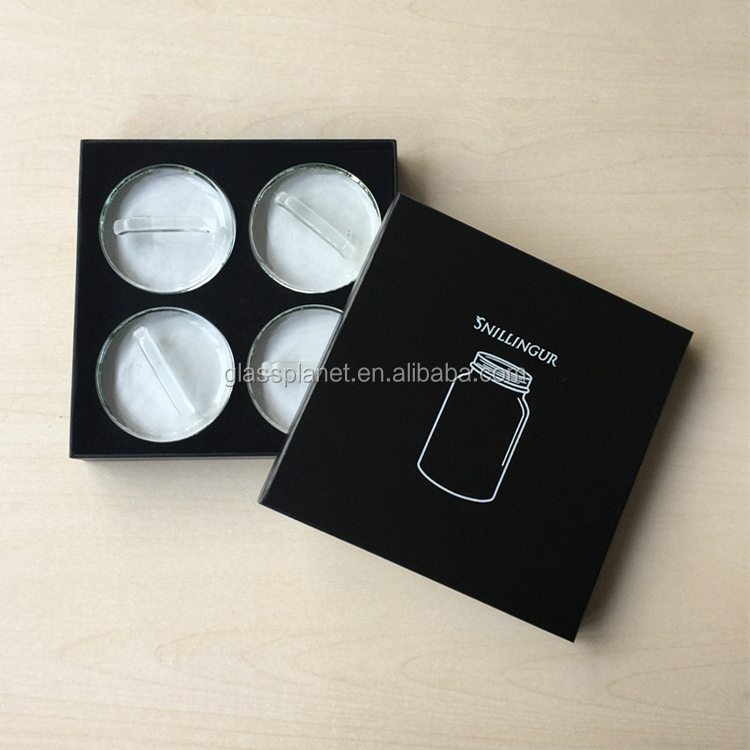 4-Pack of Glass Fermentation Weights with Handle in Gift Box with Custom Logo
