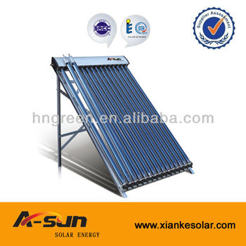 solar heat absorbing vacuum tube copper heat pipe