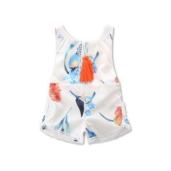 3f48ea402 European Infant Clothing Overalls Sleeveless Tassels Lace Newborn ...
