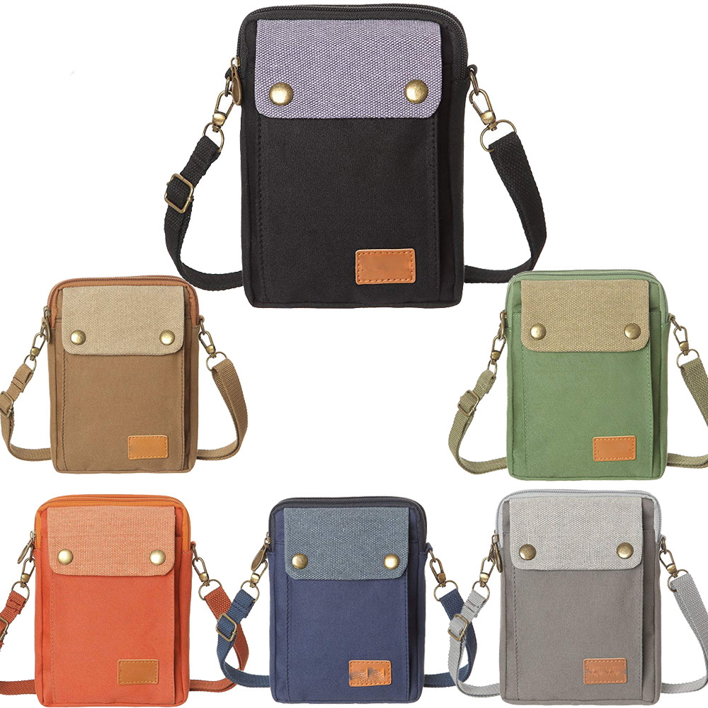 <strong>Cell</strong> <strong>Phone</strong> Purse Wallet Canvas Big <strong>Pocket</strong> Women Small Crossbody Purse Bags