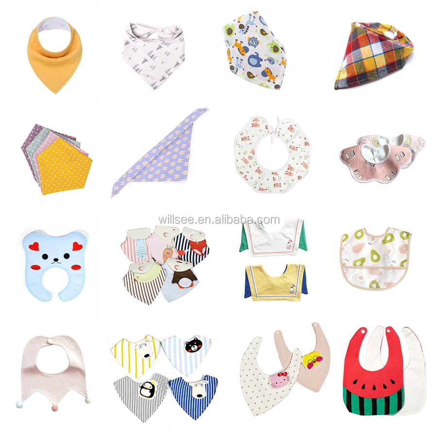 VTL1182, EVA กันน้ำผ้าพันคอขายส่งน่ารักรูปแบบเด็กผู้หญิงสามเหลี่ยมผ้าพันคอผ้าขนหนูสำหรับทารกแรกเกิด