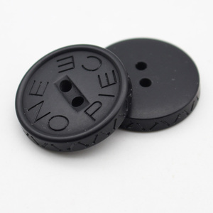 black color with plastic material designer coat buttons