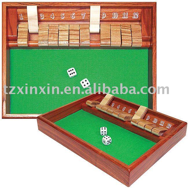 Wooden Board Games Shut The Box Dice Games - Buy Shut The Box ...